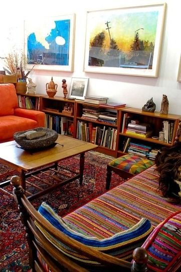 Eclectic Collector Style: Colorful Textiles & Rugs from Around the .