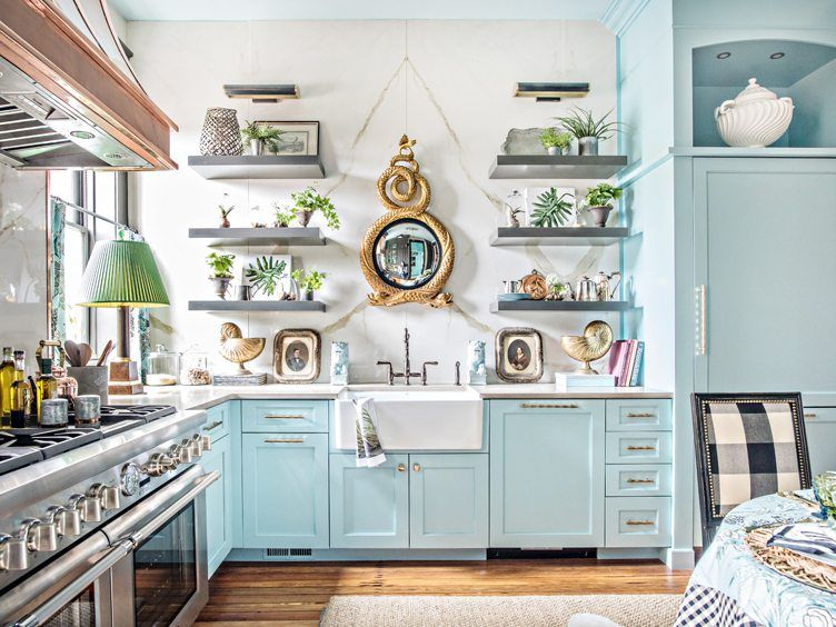Showhouse Designer Tricks For Every Room   Eclectic kitchen .