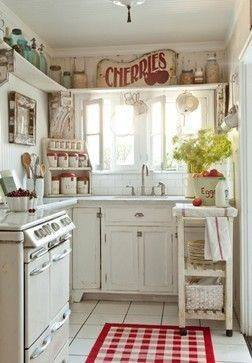 Small kitchen design   Eclectic kitchen, Country kitchen decor .