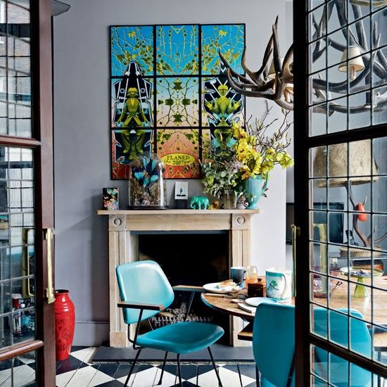 Be inspired by a quirky Georgian home | Ideal Home | Modern dining .