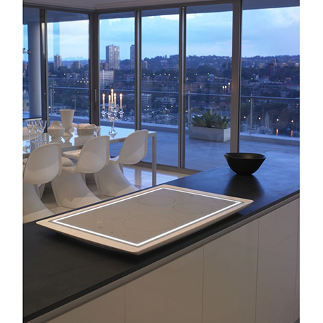 Electrolux Aurora - induction cooktop with Corian ba