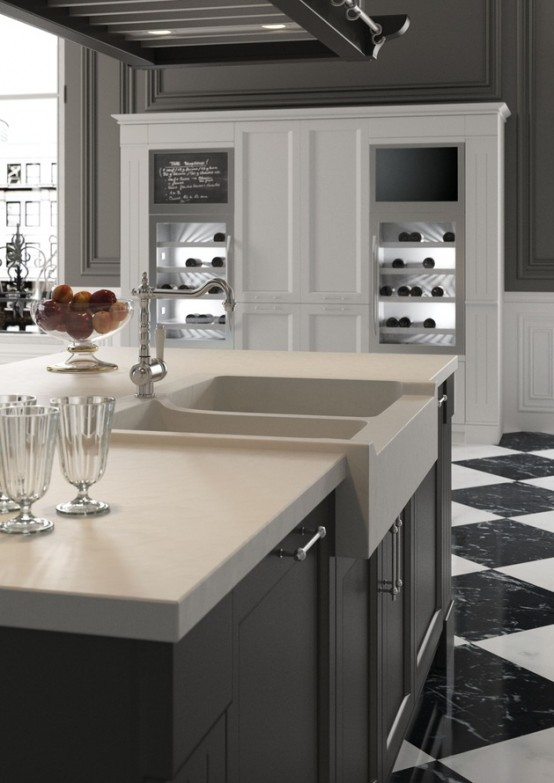 English Mood Kitchen With Country Chic Design - DigsDi