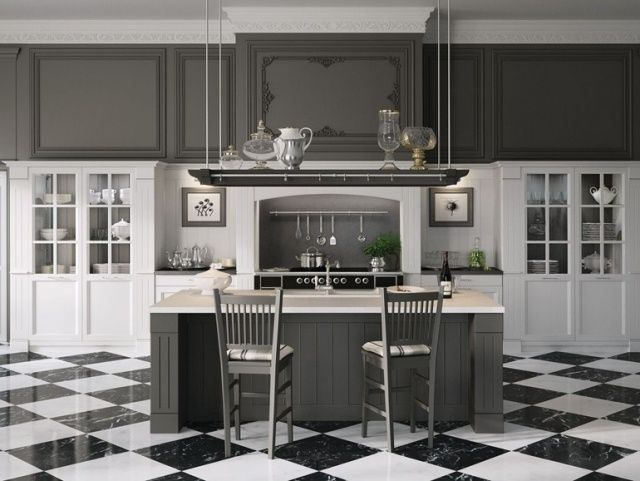 Designing The Picture-Perfect Gray Kitchen   Country kitchen .