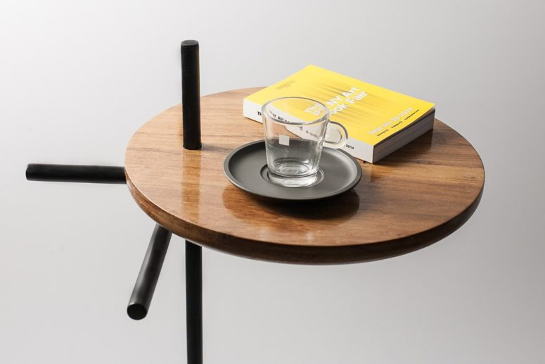 Ergonomic And Functional Axes Side Table - DigsDi