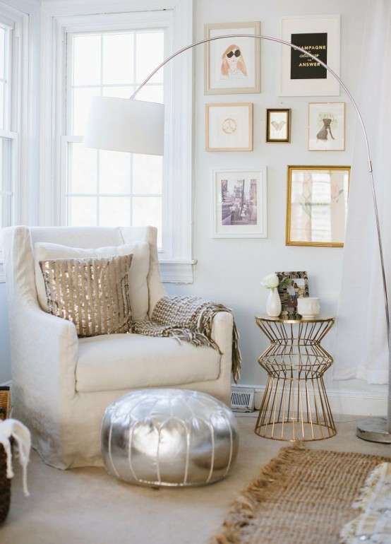 35 Eye-Catching Metallic Accents For Your Home Décor - DigsDi