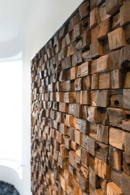 53 Eye-Catching Textured Accent Walls For Every Space   Wood wall .