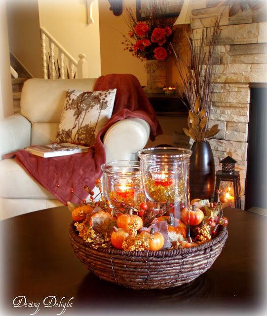 Fall Coffee Table Centerpiece   Coffee table centerpieces, Fall .