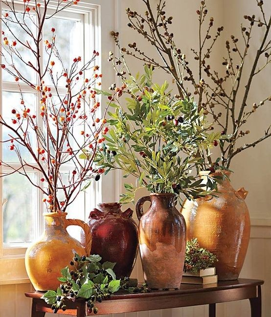 Fall Décor With Branches: 56 Awesome Ideas | Tuscan decorating .