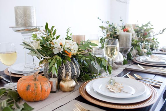 Elegant and Easy Thanksgiving Table Decorations Ideas  | family .