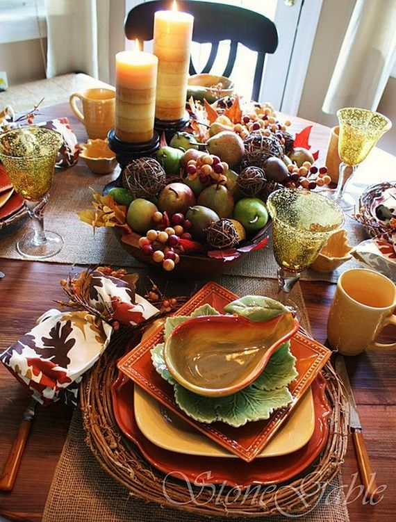 60 Beautiful Fall Table Setting Ideas For Special Occasions And .