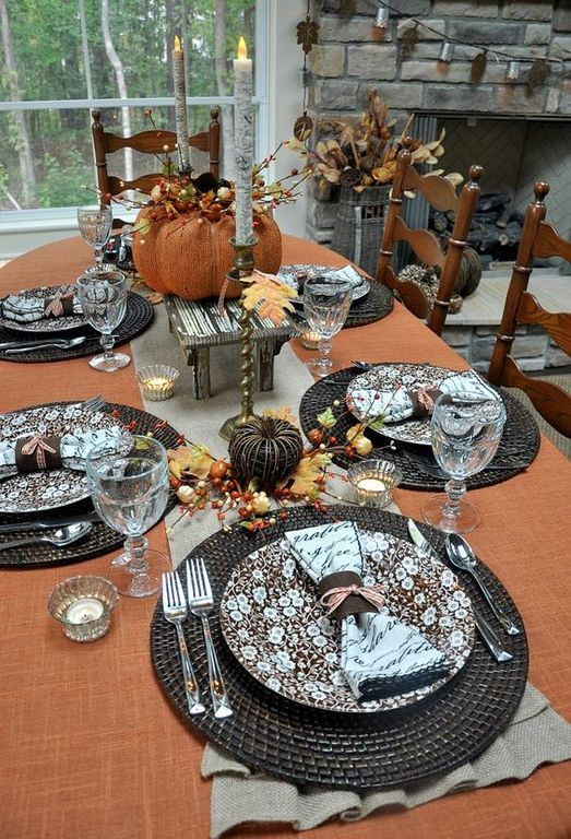 20+ Easy and Simple Fall Table Setting Ideas for Special Occasions .