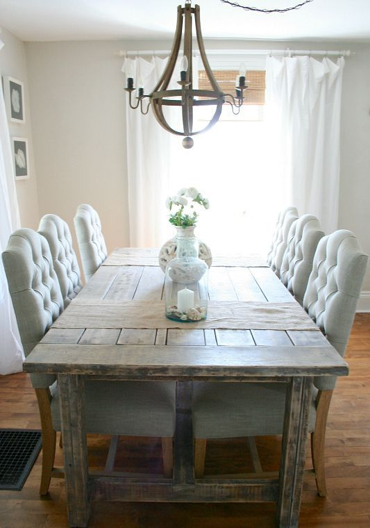 62 Farmhouse Dining Rooms And Zones To Get Inspired | Sala da .