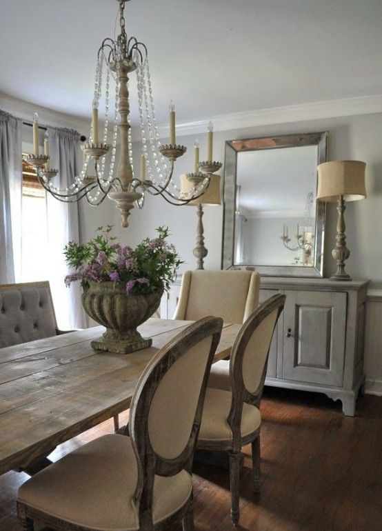 62 Farmhouse Dining Rooms And Zones To Get Inspired | Country .