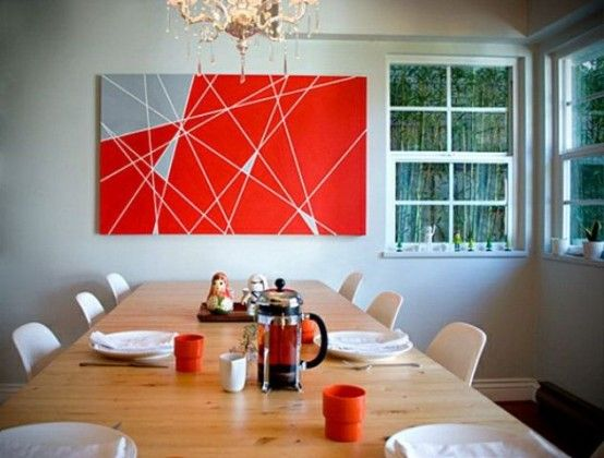 24 Fashionable Geometric Décor Ideas For Your Dining Space   Wall .