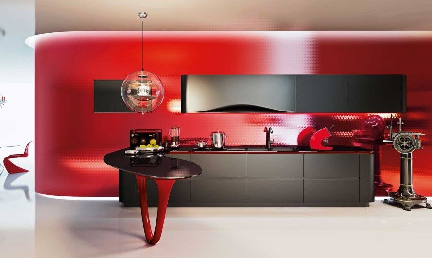 The Ferrari Kitchen, Designed by Pininfarina and Built by Snaidero .