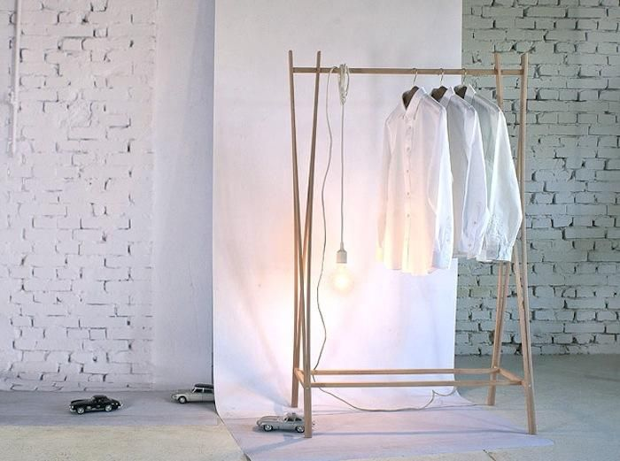 Elegance—In the Form of a Coat Rack   Freestanding clothes rail .