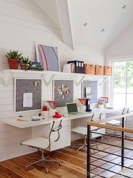 Floating Desk - Contemporary - den/library/office - New England Ho