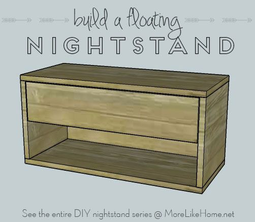 Nightstands Day 9 - Floating Nightstand with Drawer | Diy .