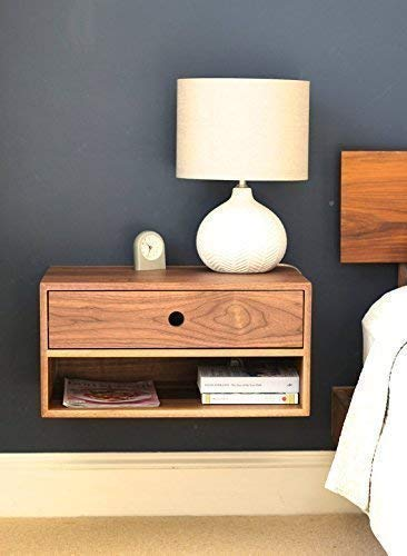 Amazon.com: Floating Nightstand with Drawer and Open Shelf in .