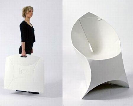 Flux Chair Folds Flat, Assembles Into An Origami-Like Lounge Se