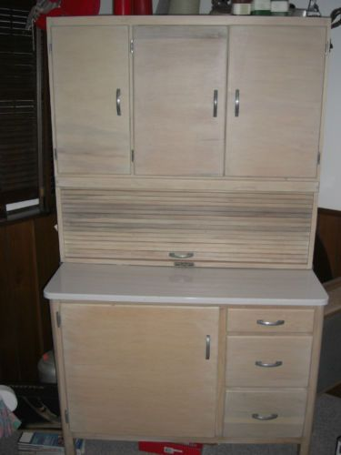 Vintage-HOOSIER-TYPE-KITCHEN-CABINET-with-Enamel-Top-Marshall .