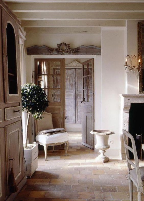 French Country Living; Graceful Interiors; Fresh & Traditional .