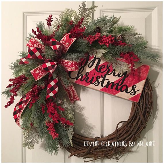 Christmas Grapevine Wreath Merry Christmas Wreath Candy Cane (With .
