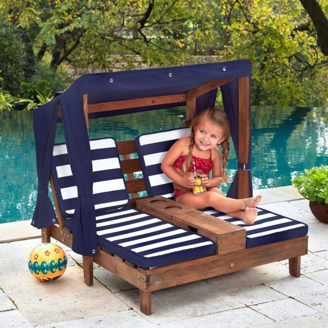 Kids Lounge Chairs with Umbrella | Double chaise lounge, Kids .