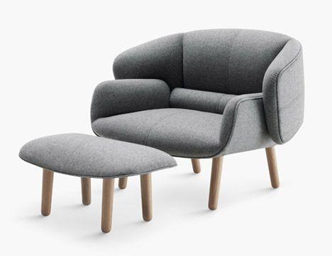 New furniture collection by Nendo, which includes a seat that .