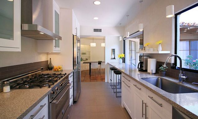 The Great Debate: Open Concept vs. Closed Kitchens   Galley .