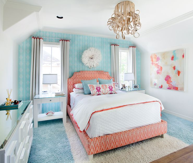 Contemporary - girl's room - Tracy Hardenburg Designs   Blue rooms .