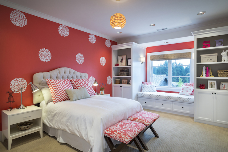 Accent Wall in Kids Room - Contemporary - Girl's Room - Benjamin .