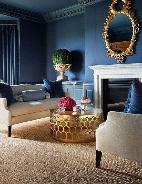 38 Glam Gold Accents And Accessories For Your Interior | Blue .