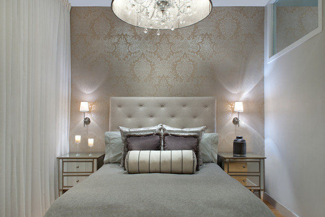 South End Glamorous Bedroom Renovation & Design - Contemporary .