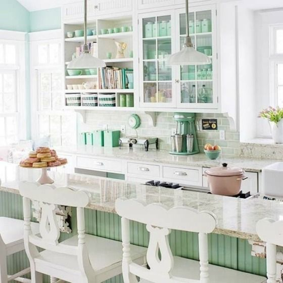 Obsessed With: Mint Green Kitchens - The Glamorous Housewife .