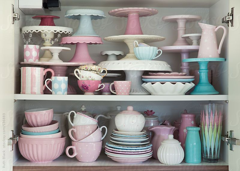 Kitchen cupboard filled with crockery by Ruth Black | Kitchen .