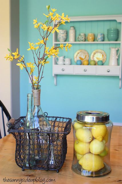 More Spring Decor! - The Sunny Side Up Blog   Yellow kitchen decor .