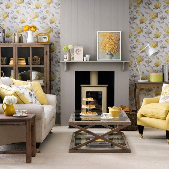 Grey and yellow colour schemes | Ideal Home | Grey and yellow .