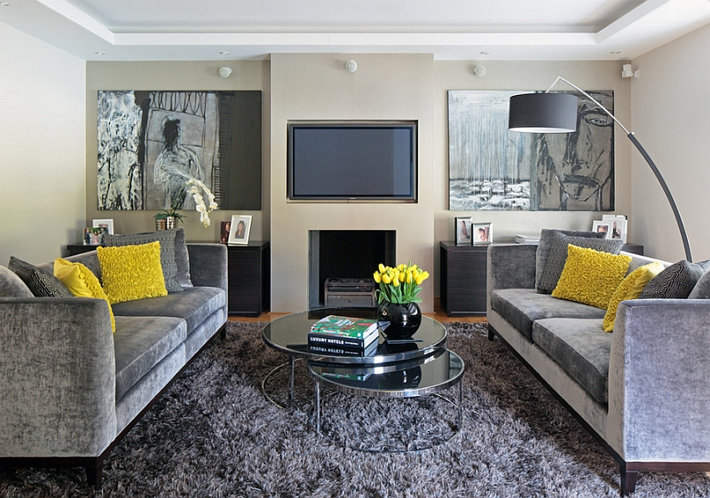 Gray And Yellow Living Rooms: Photos, Ideas And Inspiratio