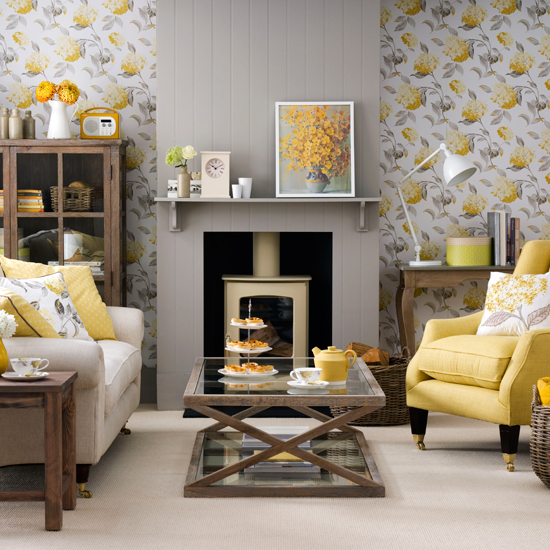 Grey and yellow living room ideas and décor inspiration | Ideal Ho