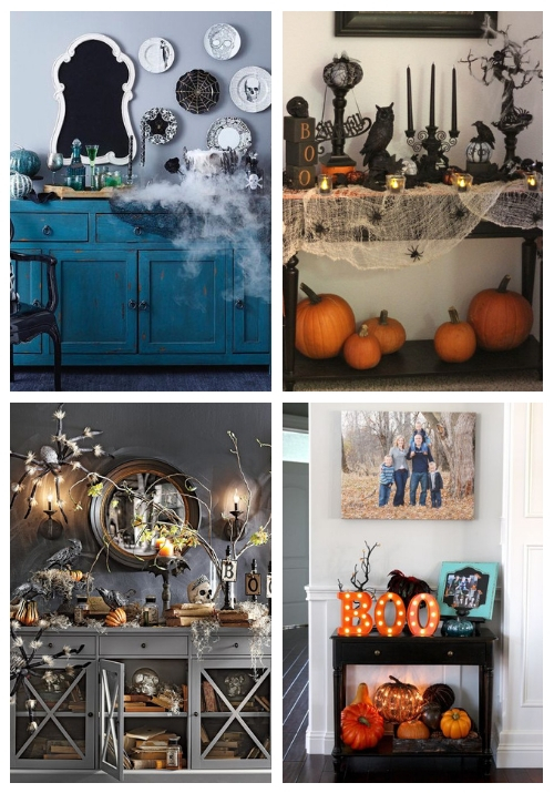 halloween console table | ComfyDwelling.c