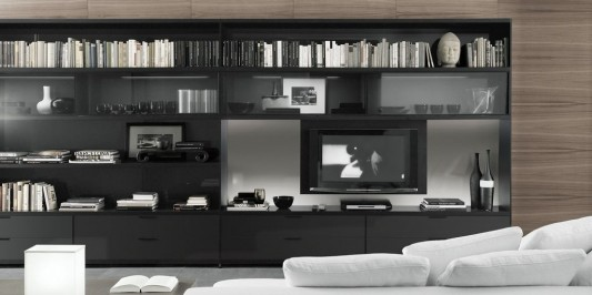 Versatile Living Room Central TV Unit and Bookcase in Modern .