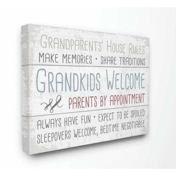 Shop The Stupell Home Decor Collection Grandparents House Rules .