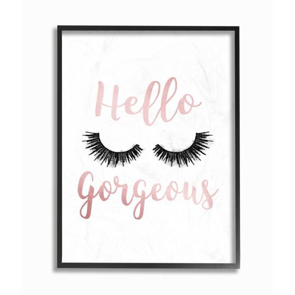 """The Stupell Home Decor Collection 24 in. x 30 in. """"Hello Gorgeous ."""