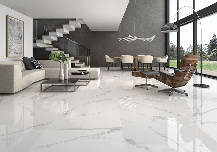 Marble floors – the noble beauty of natural stone in home interio