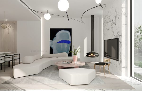 Dramatic Marble Accents in 3 Modern Homes by Shexia Space Design .