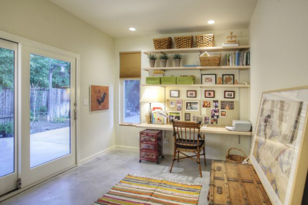 20 Great Home Office Shelving Design and Decor Ide