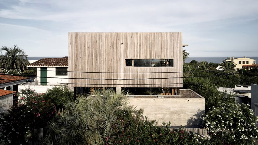 Alejandro Sticotti's Uruguay home teams weathered wood and concre
