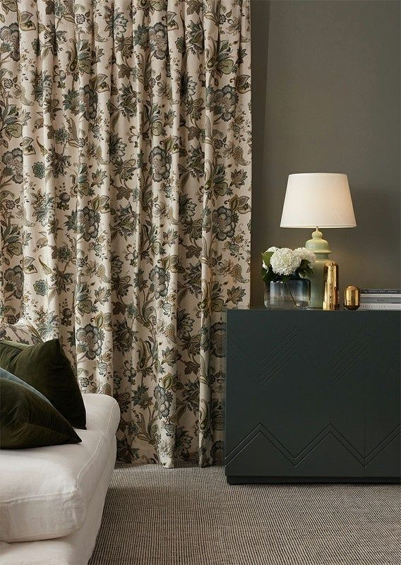 Concerto fabric from the Tea House collection by James Dunlop .