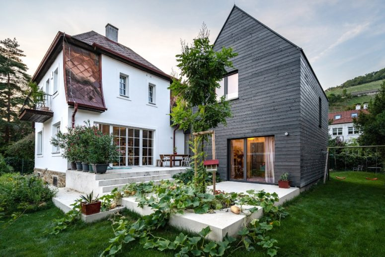 Contemporary House B Enveloping An Old Cottage - DigsDi